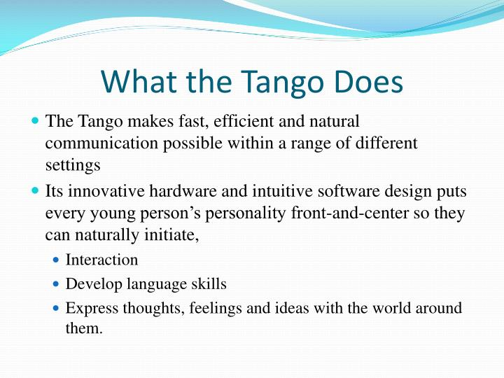 What the tango does