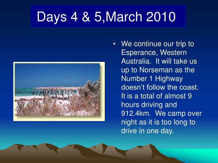 We continue our trip to Esperance, Western Australia.  It will take us up to Norseman as the Number 1 Highway doesn't follow the coast.  It is a total of almost 9 hours driving and 912.4km.  We camp over night as it is too long to drive in one day.