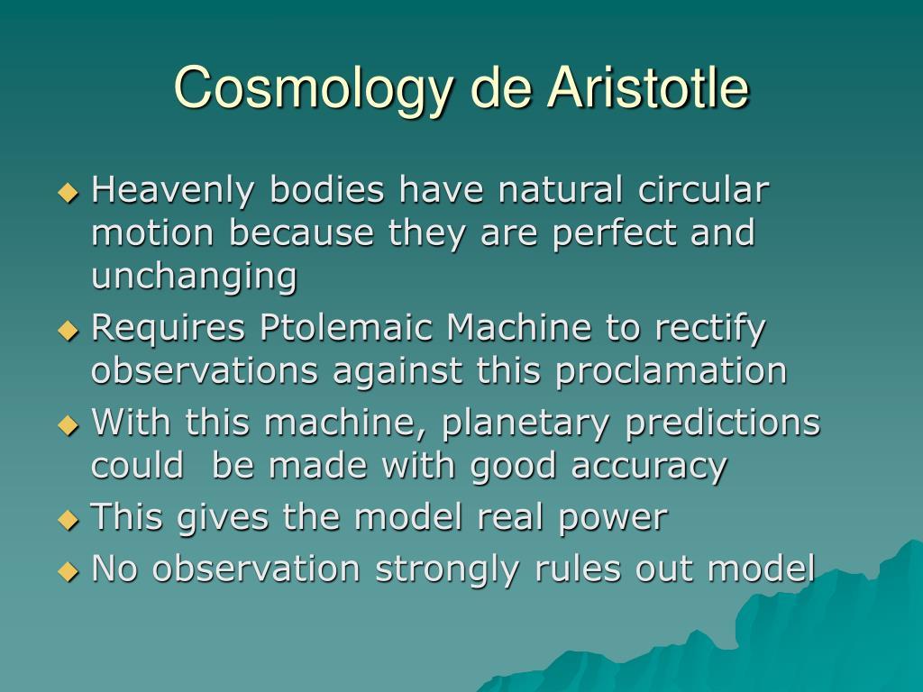 Cosmology de Aristotle