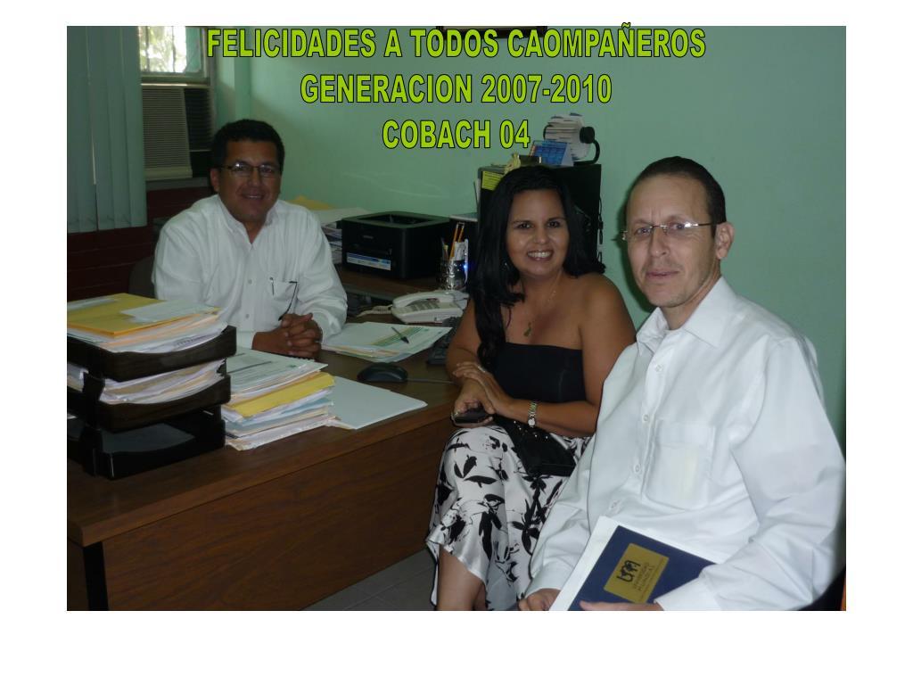FELICIDADES A TODOS CAOMPAÑEROS