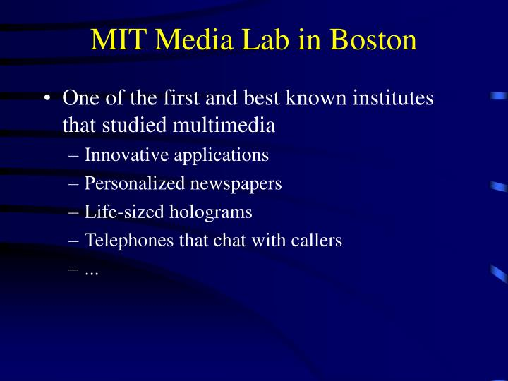 MIT Media Lab in Boston