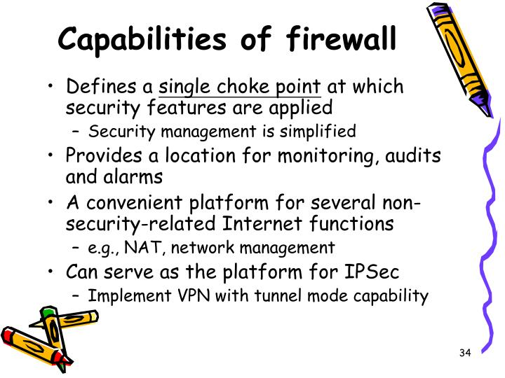 Capabilities of firewall