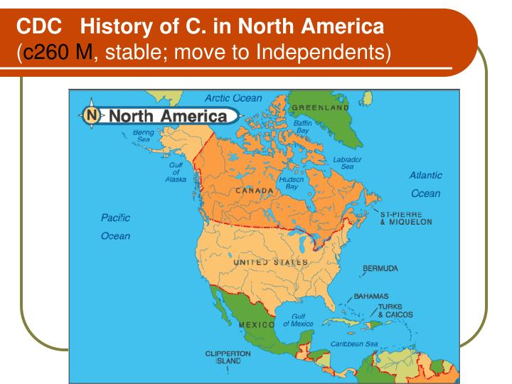 CDC   History of C. in North America