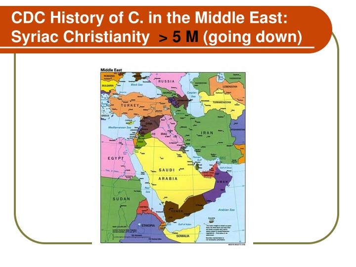CDC History of C. in the Middle East: