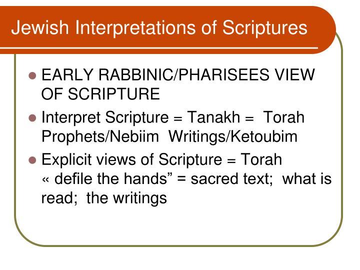 Jewish Interpretations of Scriptures