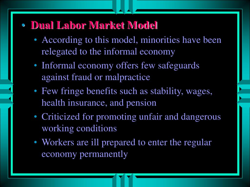 Dual Labor Market Model