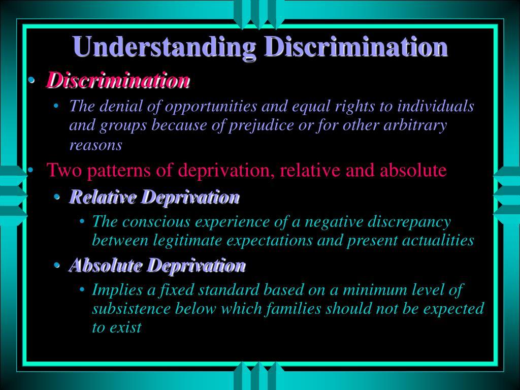 Understanding Discrimination