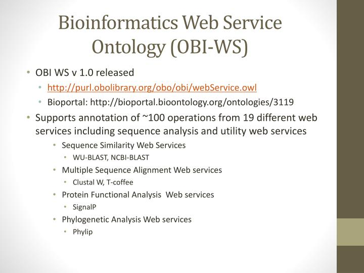 Bioinformatics Web Service Ontology (OBI-WS)