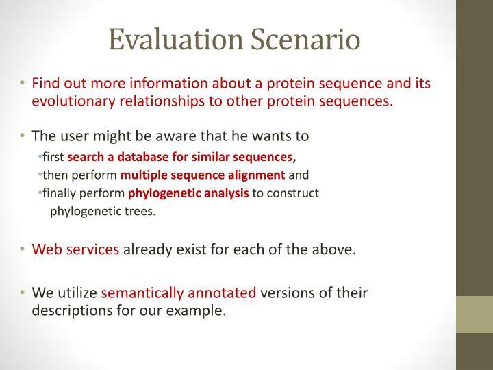 Evaluation Scenario