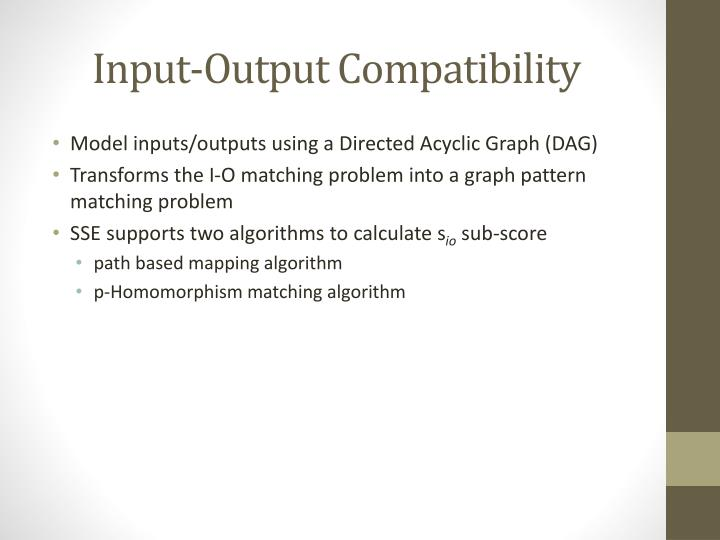 Input-Output Compatibility