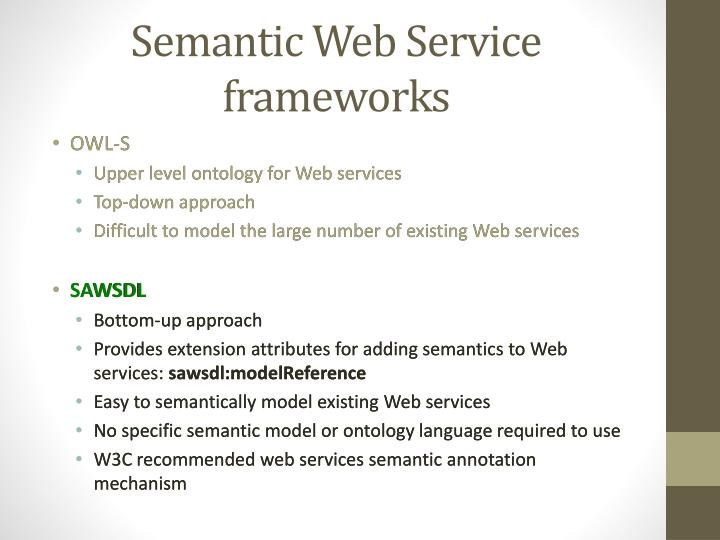 Semantic Web Service frameworks