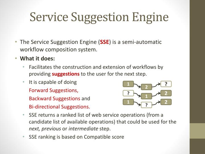 Service Suggestion Engine
