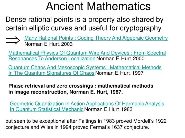 Ancient Mathematics