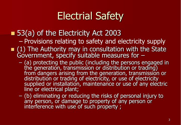 Electrial safety