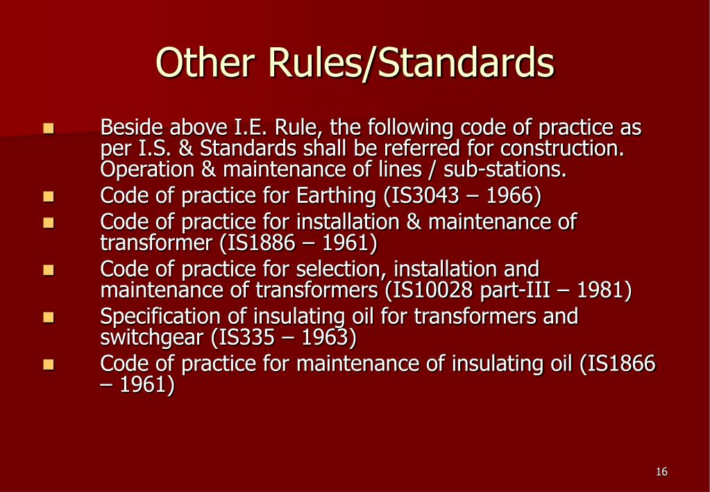 Other Rules/Standards