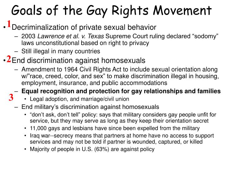 Goals of the Gay Rights Movement