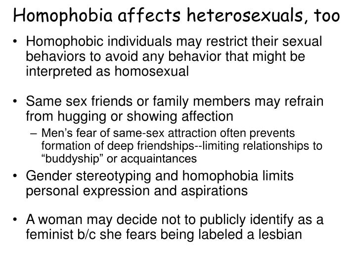 Homophobia affects heterosexuals, too