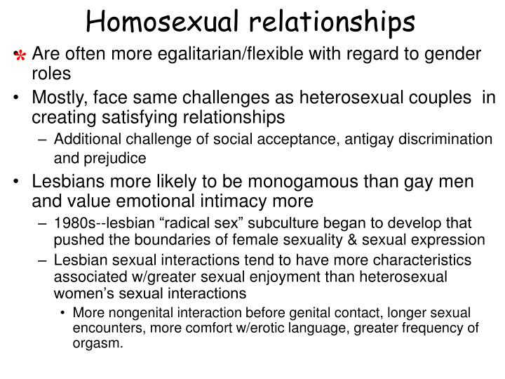 Homosexual relationships