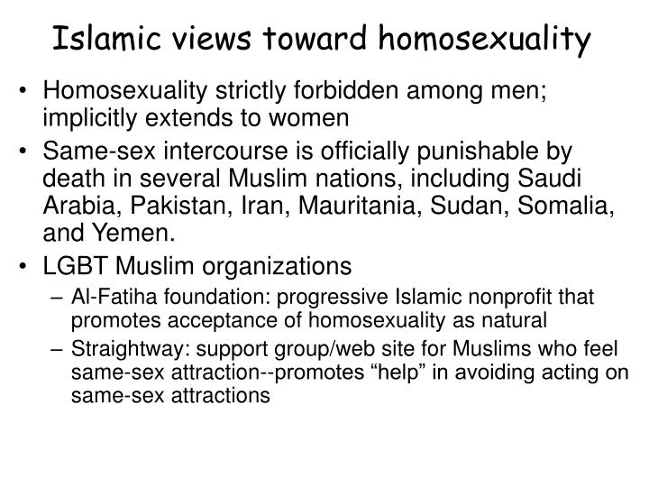Islamic views toward homosexuality