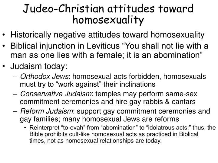 Judeo-Christian attitudes toward homosexuality