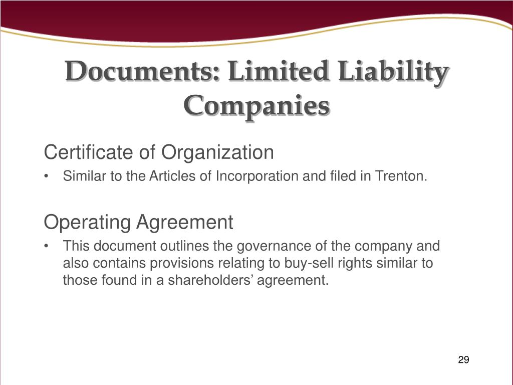 Documents: Limited Liability Companies