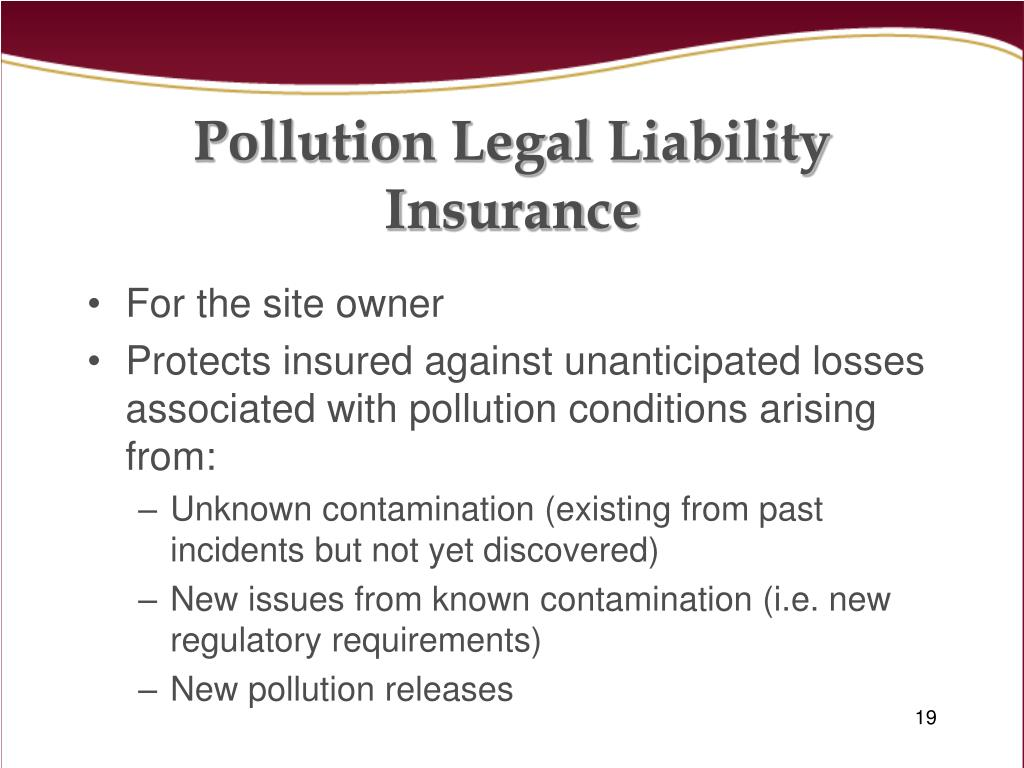 Pollution Legal Liability Insurance