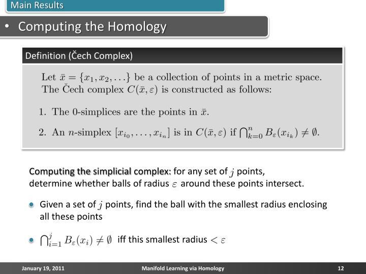 Computing the Homology