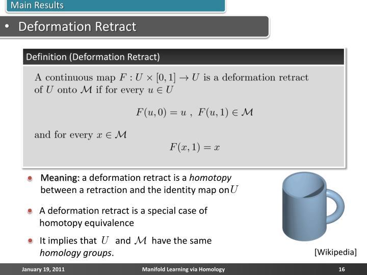 Deformation Retract