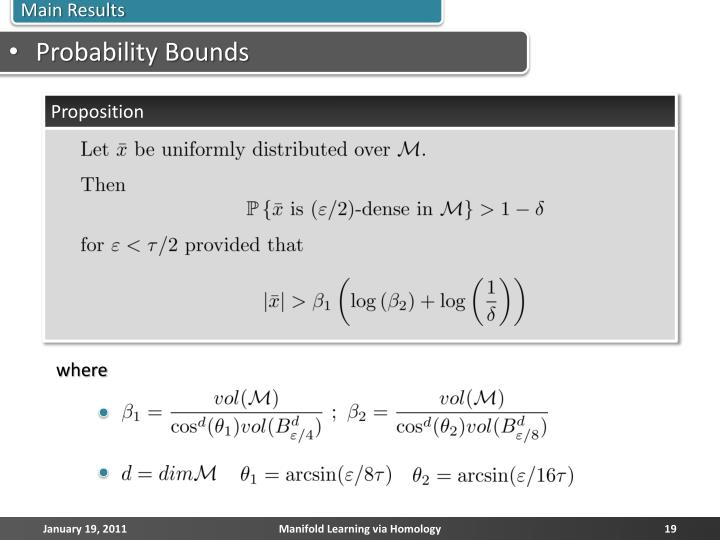 Probability Bounds