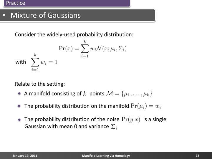 Mixture of Gaussians