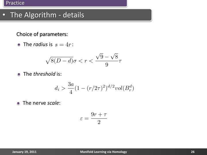 The Algorithm - details
