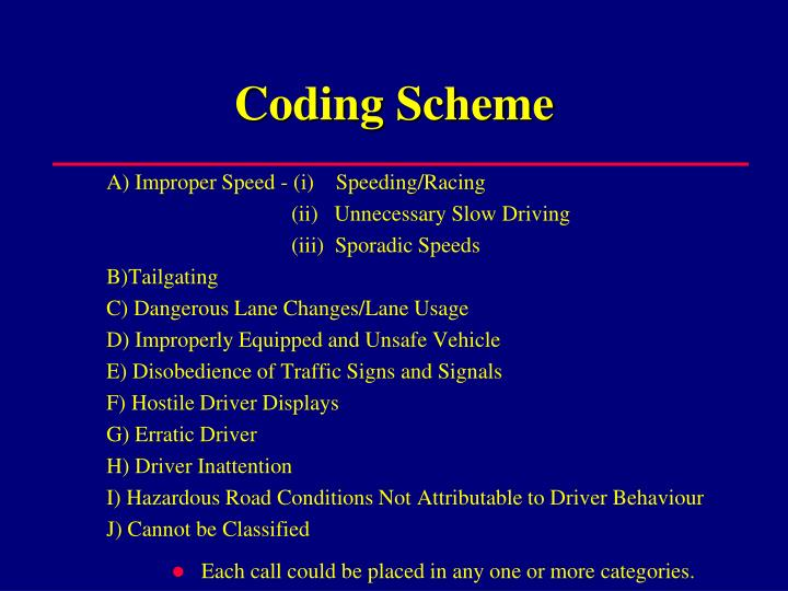 how to create a coding scheme