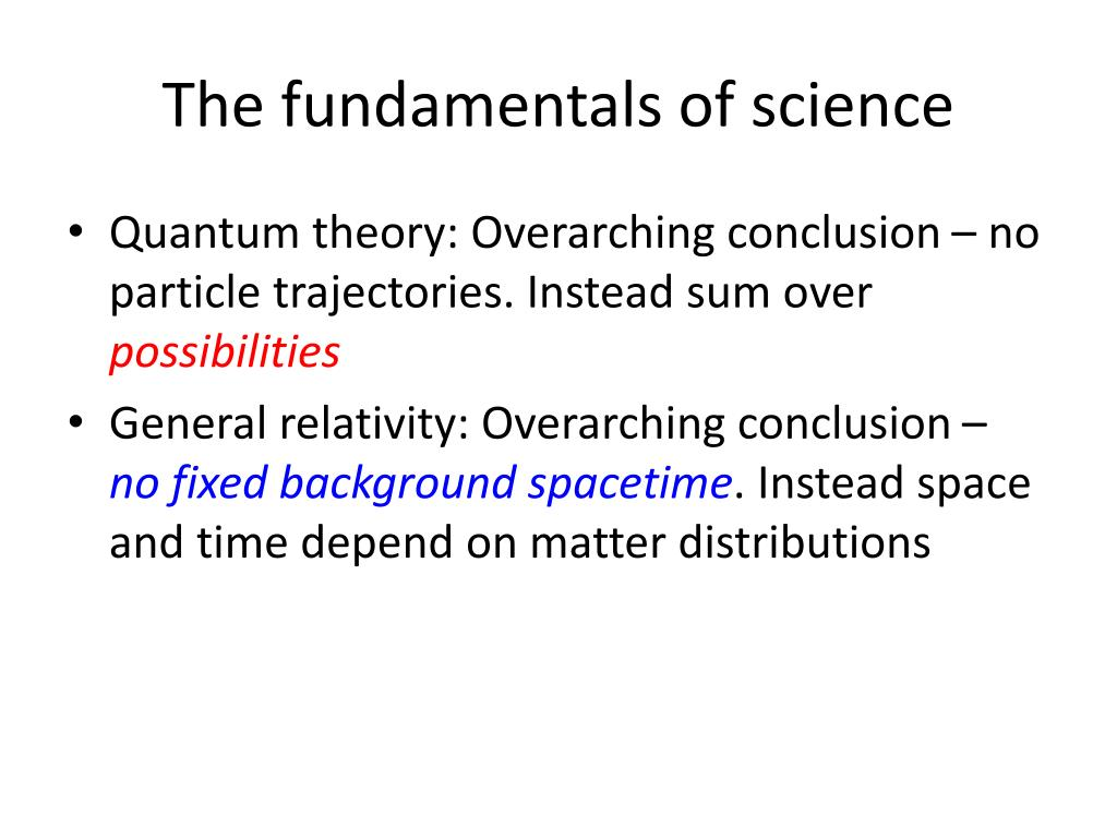 The fundamentals of science