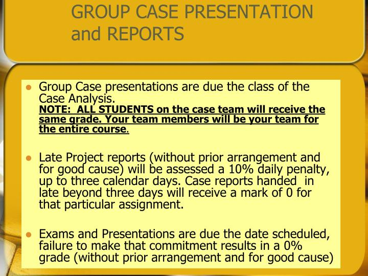 GROUP CASE PRESENTATION
