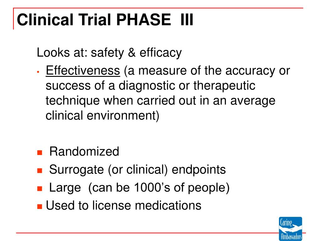 Looks at: safety & efficacy