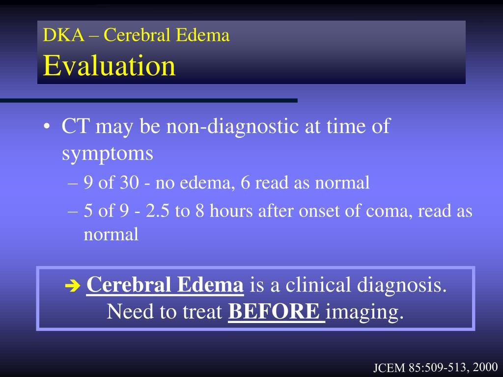 DKA – Cerebral Edema