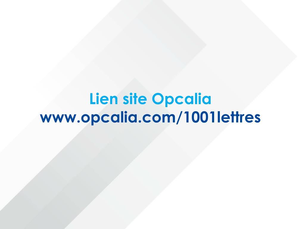 Lien site Opcalia