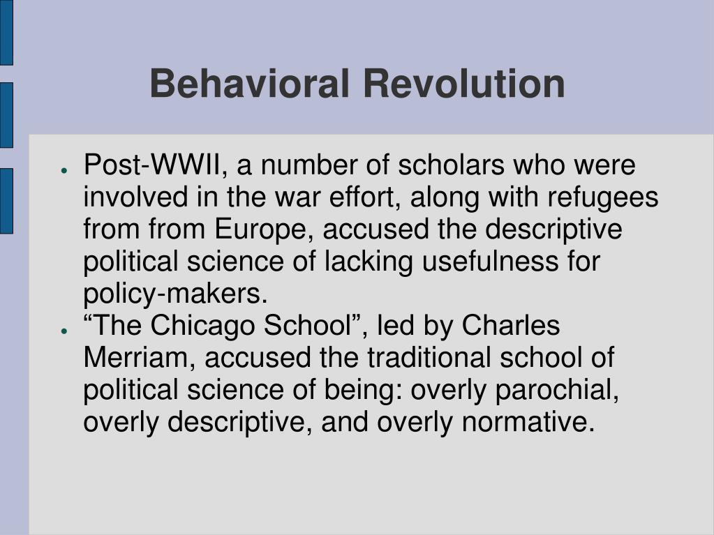 Behavioral Revolution