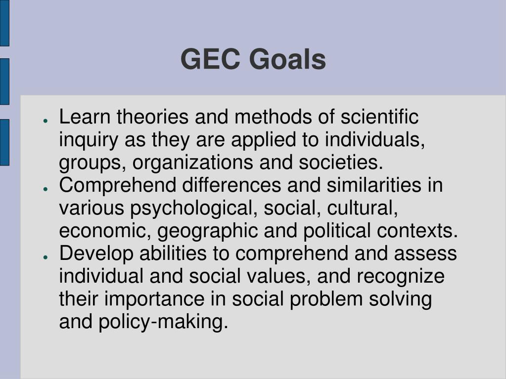 GEC Goals