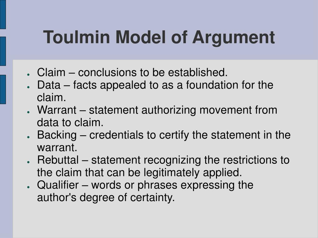 Toulmin Model of Argument