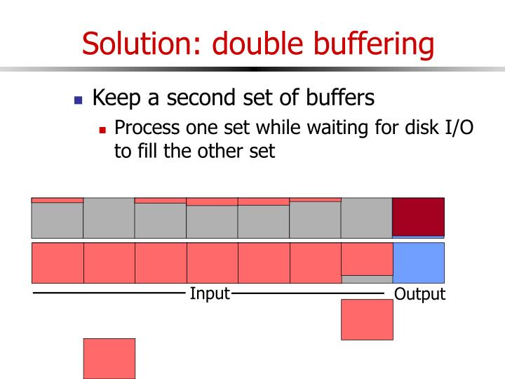 Solution: double buffering