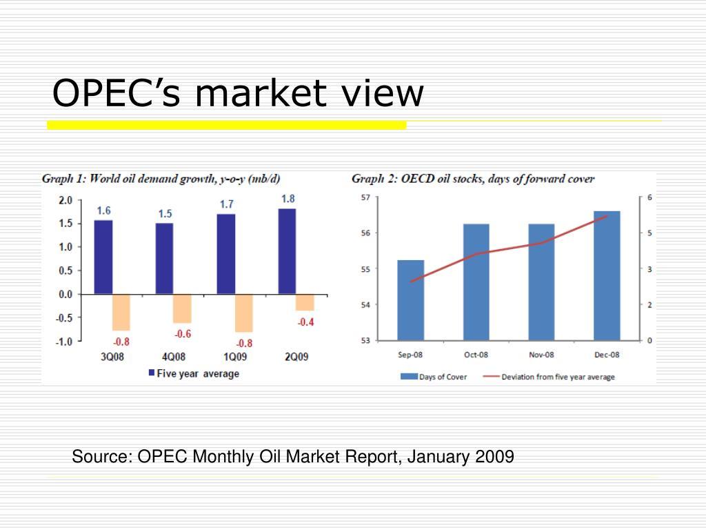 OPEC's market view