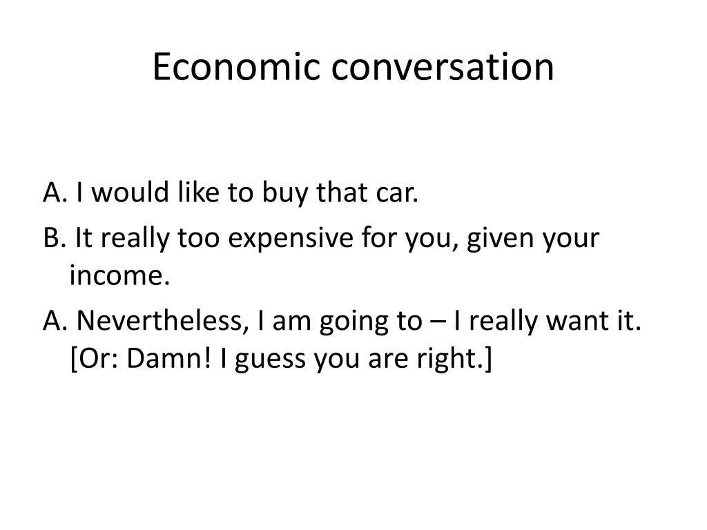 Economic conversation