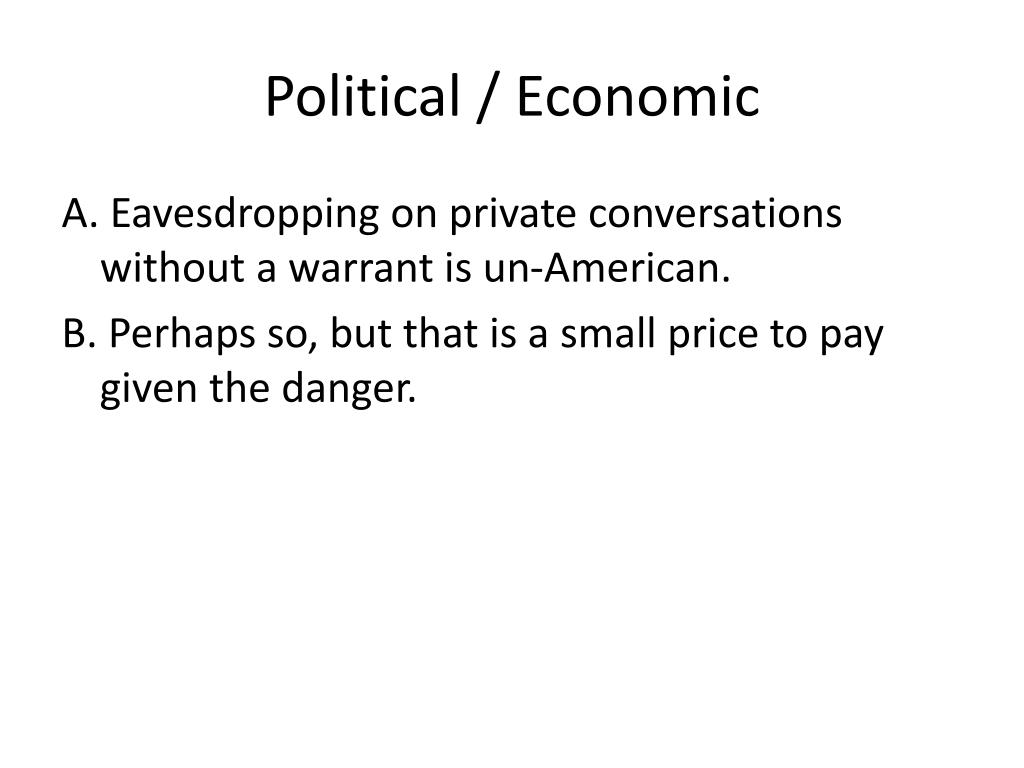 Political / Economic