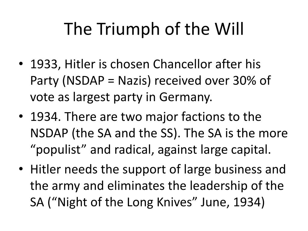The Triumph of the Will