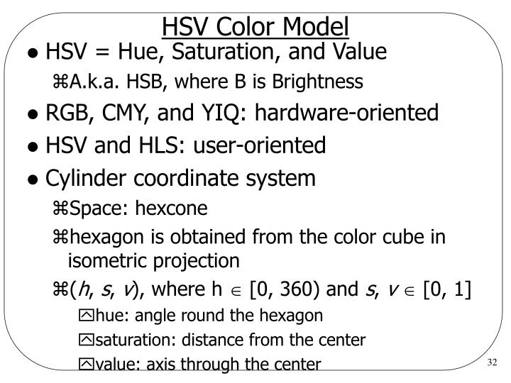 HSV Color Model