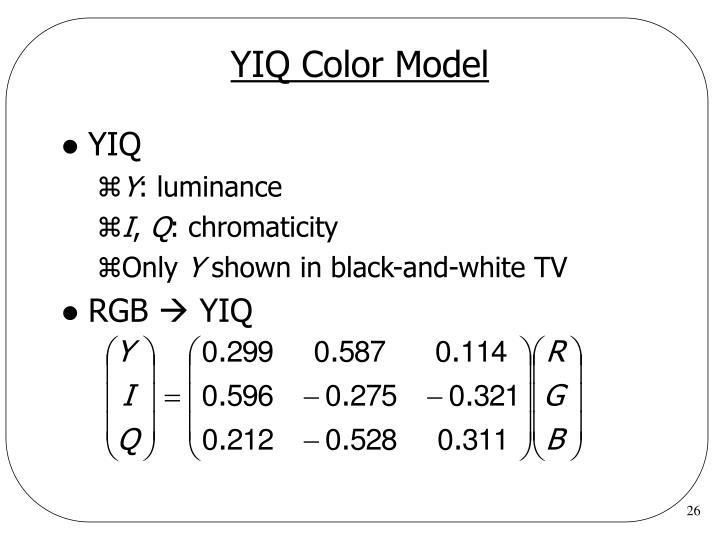 YIQ Color Model