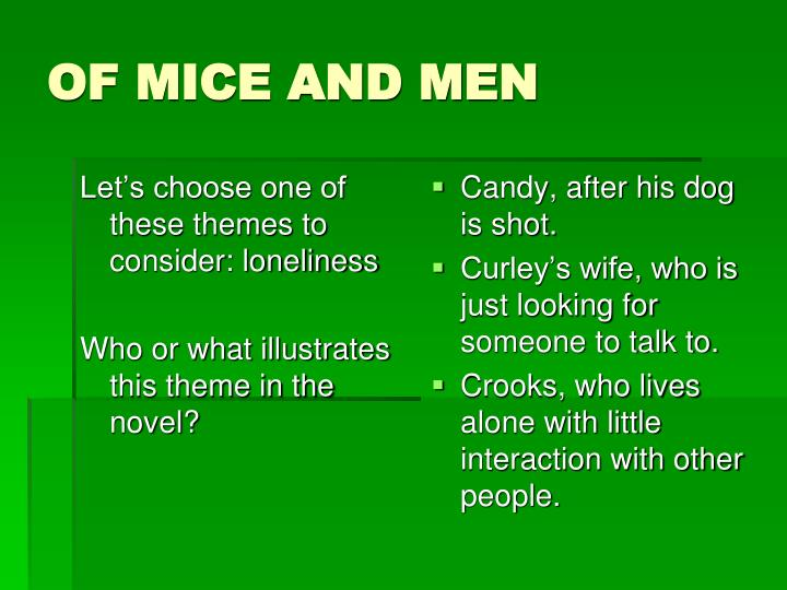 Of mice and men1