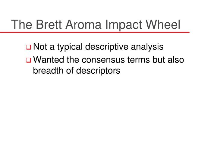 The Brett Aroma Impact Wheel