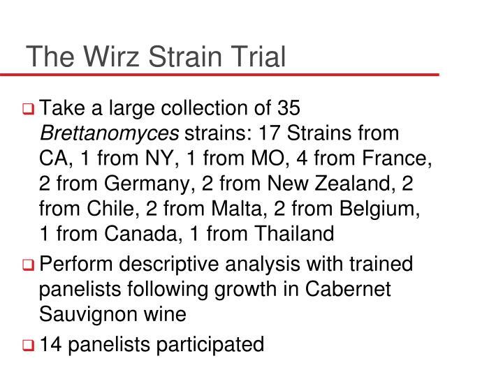 The Wirz Strain Trial